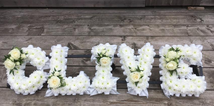 Floral Lettering - Names