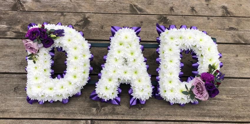 Floral Lettering - Dad