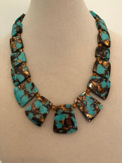 Dakota Turquoise Bronzite Necklace