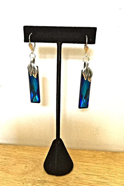Bermuda Rising Swarovski Crystal and Sterling Silver Earrings