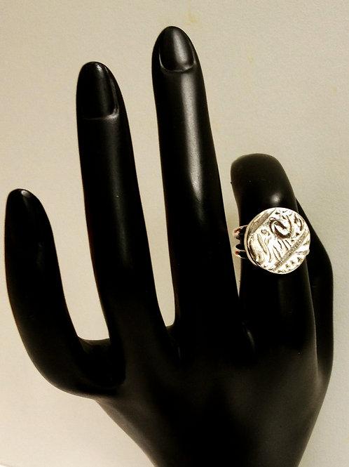 Sterling Silver Ring Mughol Coin Replica