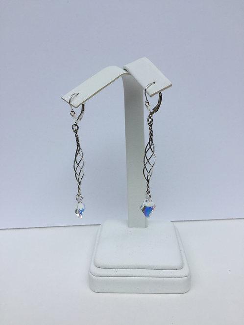 Crystal AB Rhombas Earrings