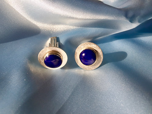 Rhapsody in Lapis Lazuli and Sterling Silver Cuff Links