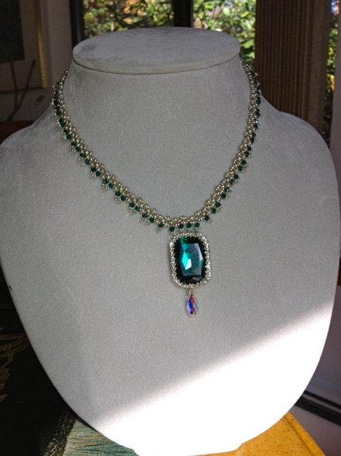 Topkapi Swarovski Emerald Necklace