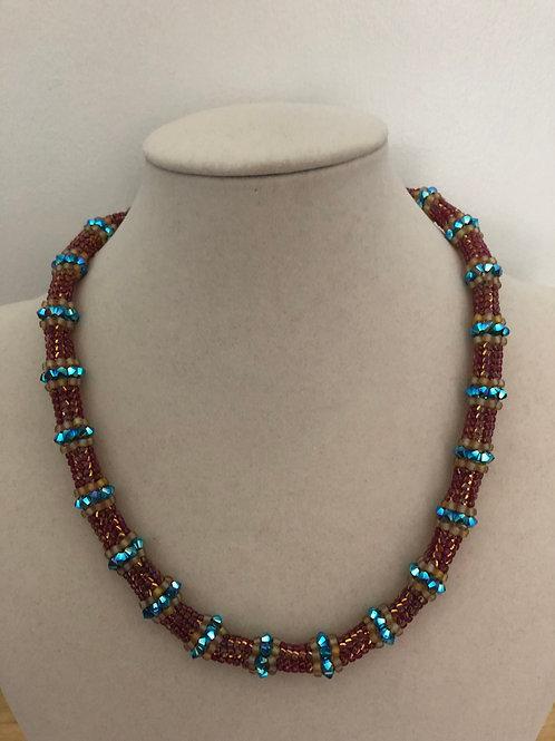 Triangle Herring Bone Necklace