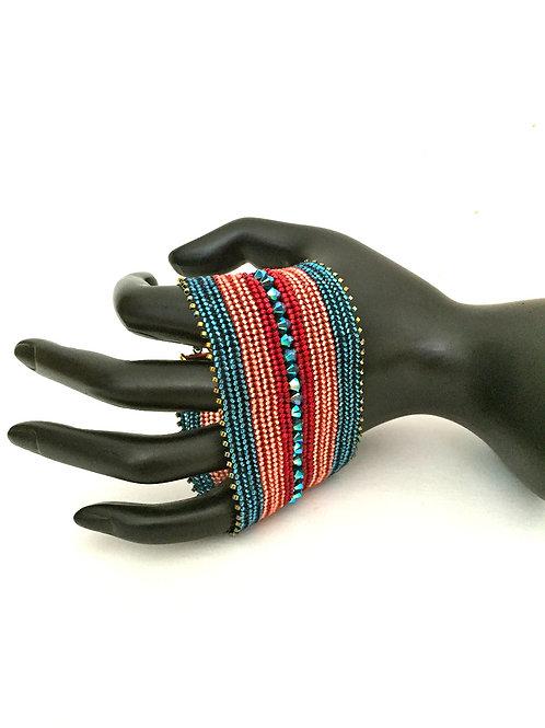 Sari Queen Bracelet with Swarovski Crystals