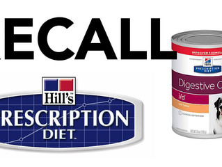 HILL'S RECALLS CANNED DOG FOOD