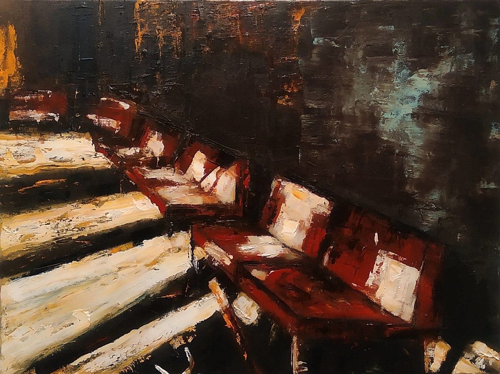 Waiting room (5), 2019, 60 x 80 cm. Oil on canvas