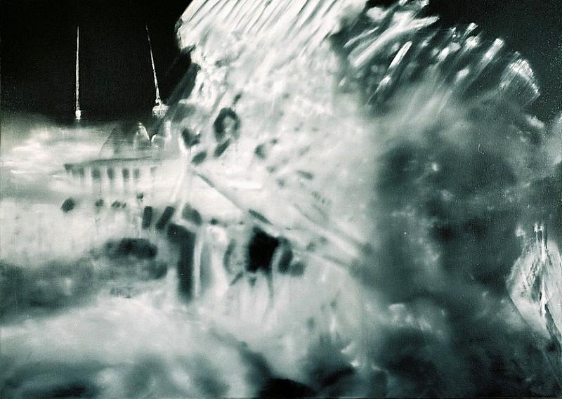 Jarik Jongman-Explosion (1), 2006,  100 x 140 cm. Oil on canvas