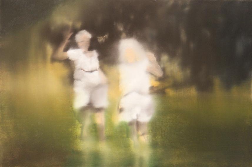 Jarik Jongman-Hello Goodbye (2), 2010, 40 x 60 cm. Oil on canvas