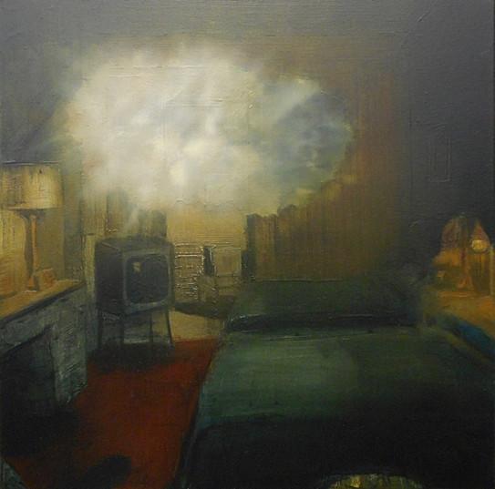 Jarik Jongman-Phenomena (25), 2019, 50 x 50 cm. Oil on canvas