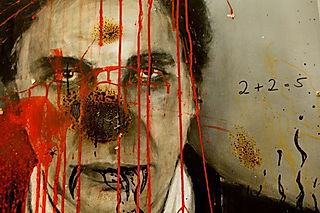 Jarik Jongman About Face - Charles Saatchi, 80 x 80 cm, painting and performance, Momentum Berlin,2012