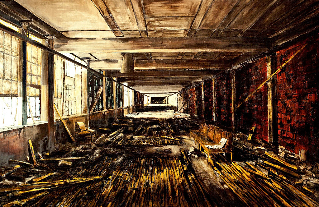 Jarik Jongman-Interior (5), 2013, 140 x 220 cm.  Oil on canvas