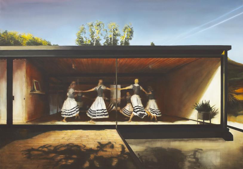 Jarik Jongman-Glaube und Schönheit, 2018,   140 x 200 cm. Oil on canvas