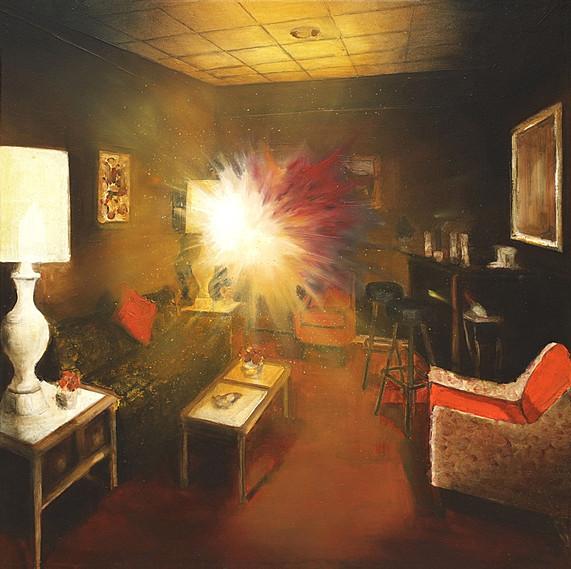 Jarik Jongman-Phenomena (33), 2018, 70 x 70 cm. Oil on canvas