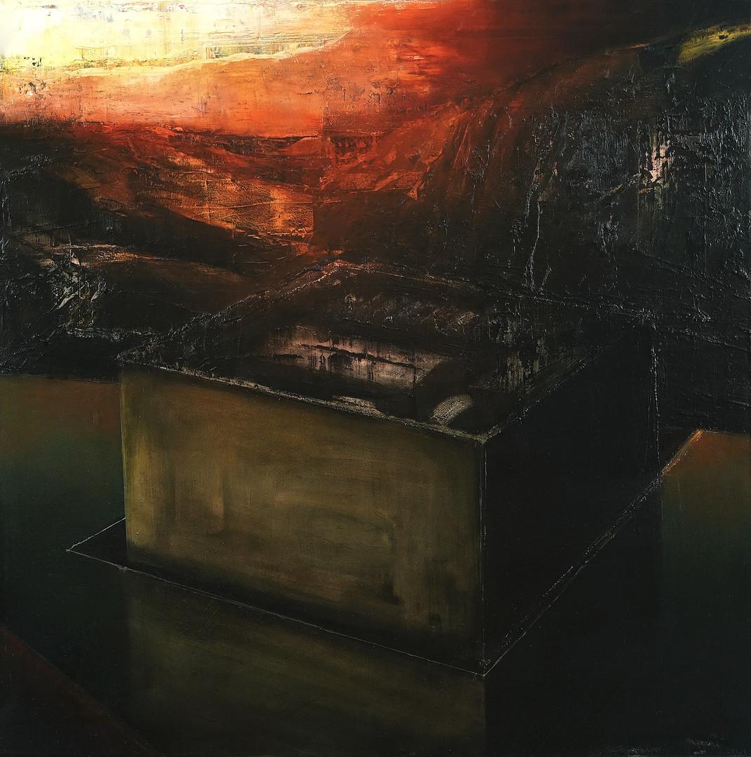 PT data center, Covilhã, Portugal, 2019, 80 x 80 cm.  Oil on canvas