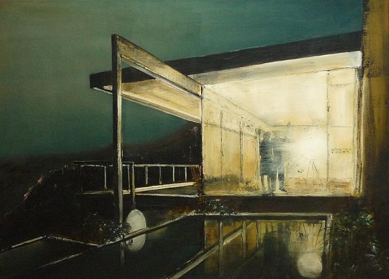Jarik Jongman-Hello Goodbye (8), 2015,  100 x 140 cm. Oil on canvas