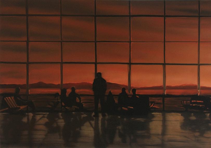 Jarik Jongman-Waiting room (2), 2011, 70 x 100 cm. Oil on canvas