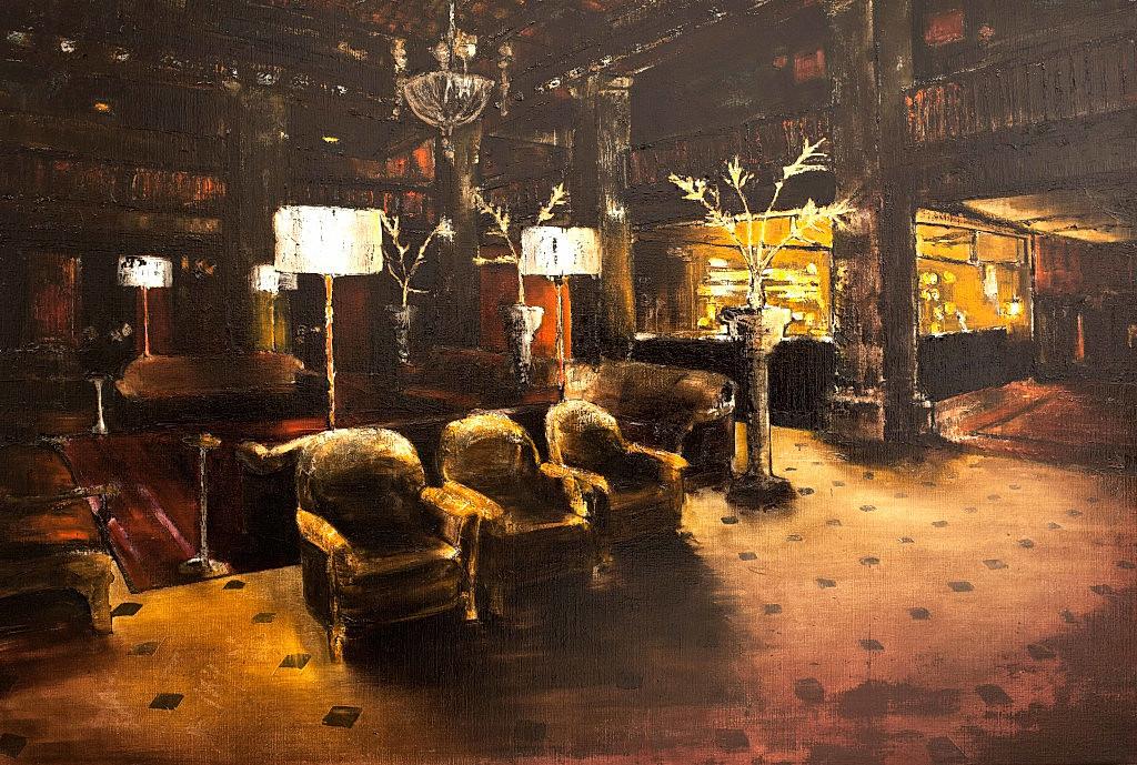 Jarik Jongman-Nobody comes, nobody goes, 2013, 120 x 180 cm. Oil on canvas