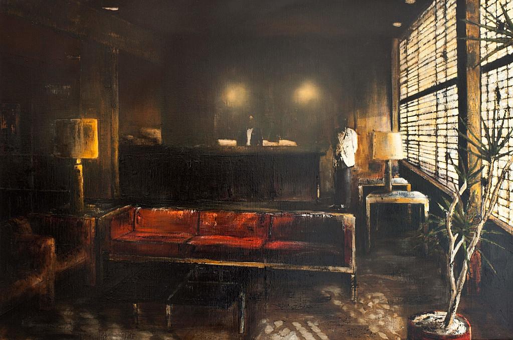 Jarik Jongman-I remain in the dark, 2013, 120 x 180 cm. Oil on canvas