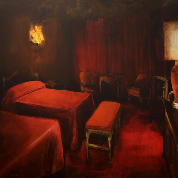 Jarik Jongman-Phenomena (32), 2018, 70 x 70 cm. Oil on canvas