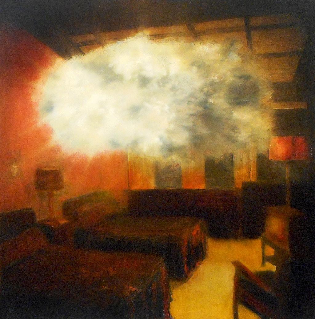 Jarik Jongman-Phenomena (29),  2019, 50 x 50 cm. Oil on canvas