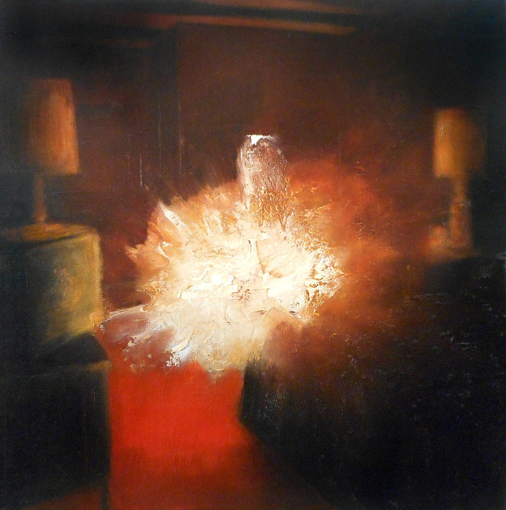 Jarik Jongman - Phenomena (27), 2019, 50 50 cm.  Oil on canvas