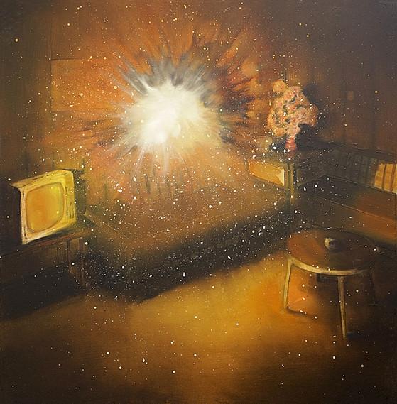 Jarik Jongman-Phenomena (28), 2018, 70 x 70 cm. Oil on canvas