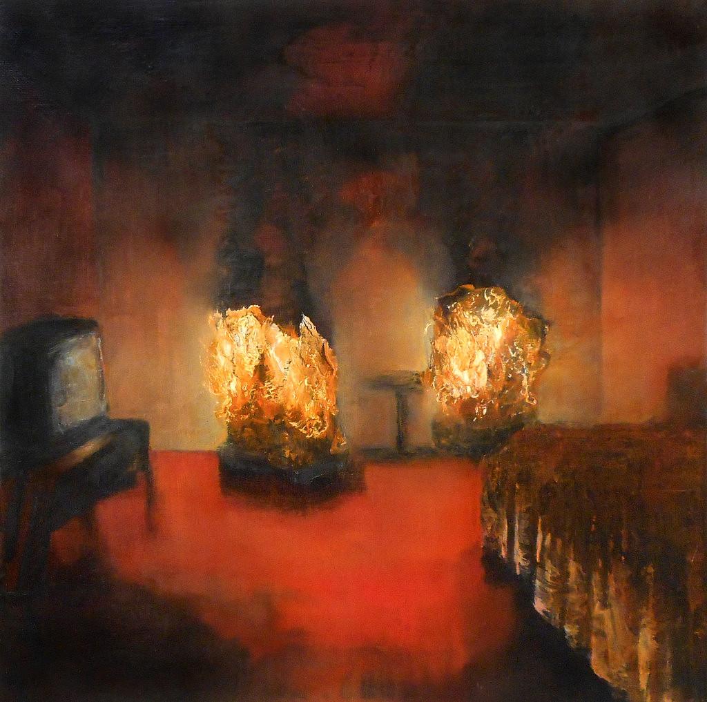Jarik Jongman-Phenomena (28), 2019, 50 x 50 cm. Oil on canvas