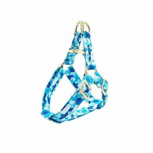 Geometric Blue Harness