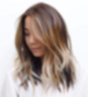 haircut hair color blowout balayage