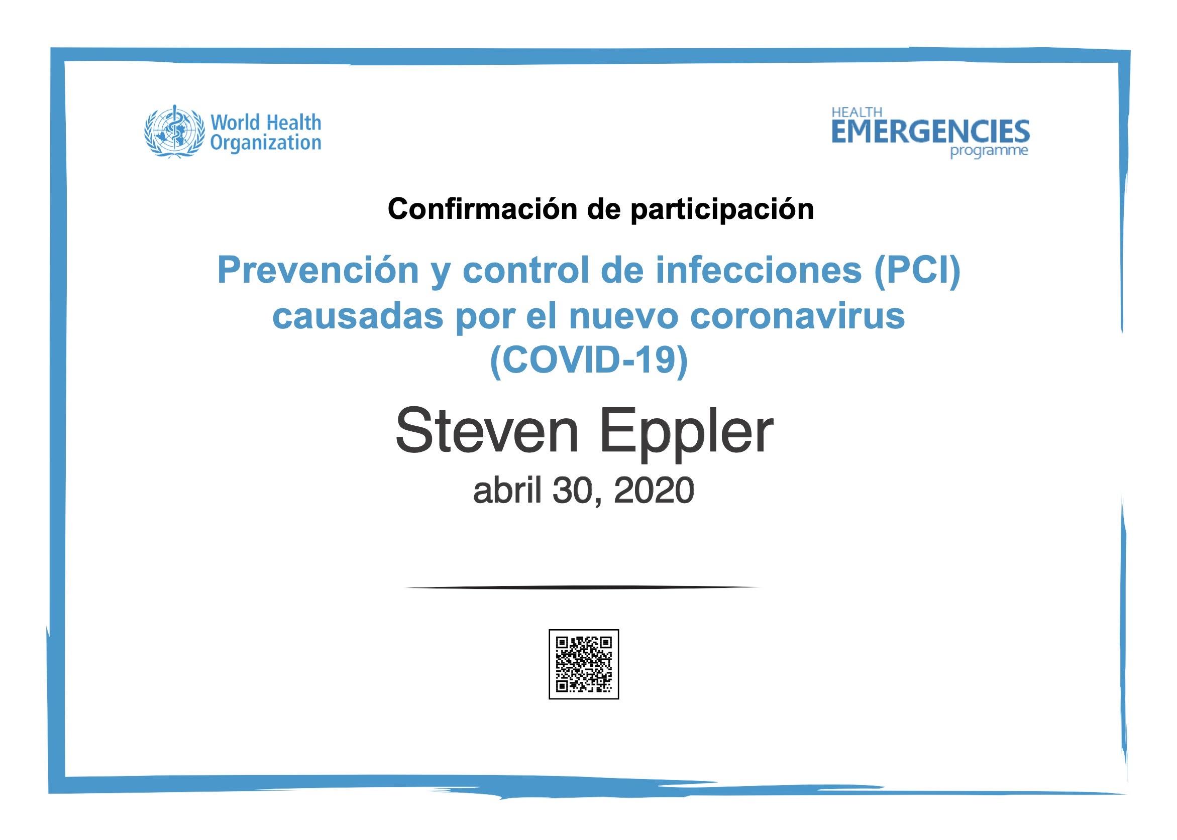 WHOCertificateCOVID-19 Steven Eppler