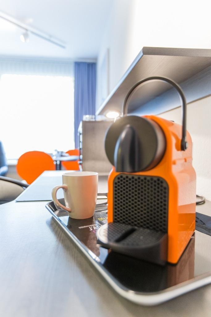 Küche mit Kaffemaschine