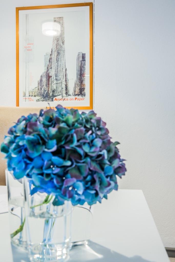 Blauer Blumenstrauss