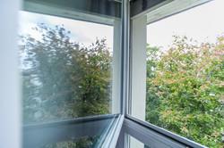 Gartenseite Wohnung Fensterblick