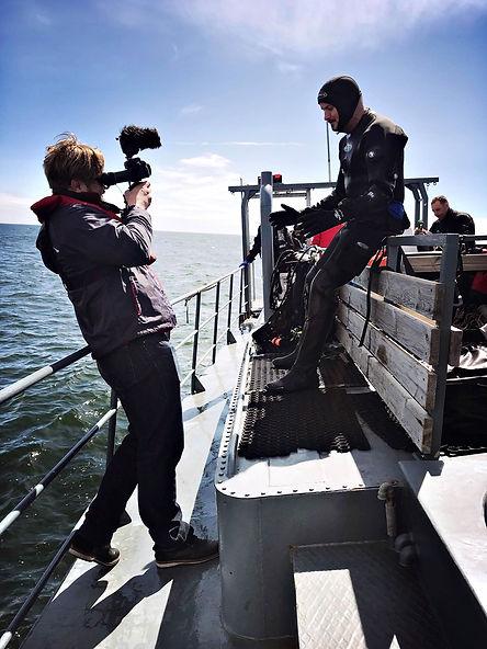 Will Appleyard Baltic Sea filming.JPG