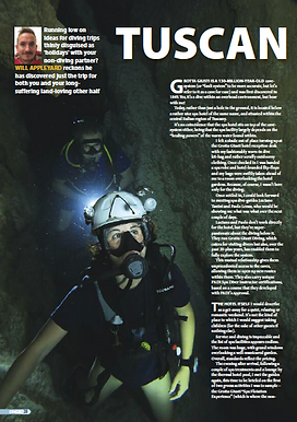 Tuscany cave diving feature
