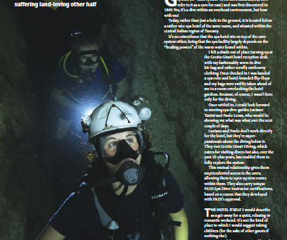 Spa diver : A feature for DIVER magazine