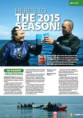 Commisioned feature fo DIVER magazine