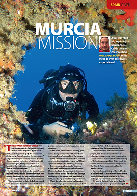 Murcia, a feature for DIVER magazine