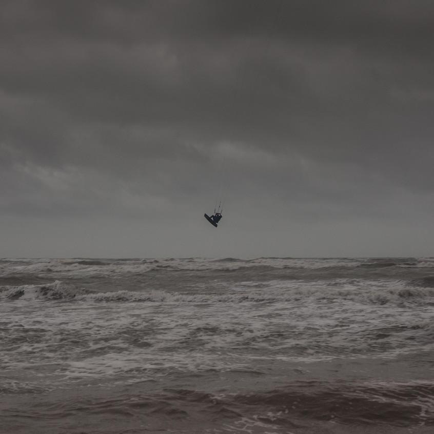 Kite Surfer rough sea