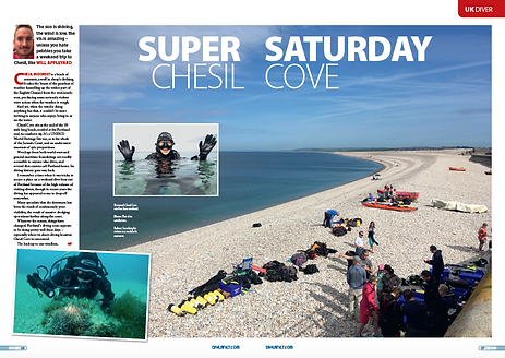 Chesil Cove, a feature for DIVER magazin