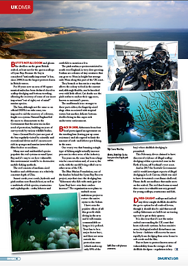 Scallop dredging feature for DIVER magazine
