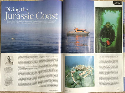 Diving Dorset, a feature fo DORSET magazine&