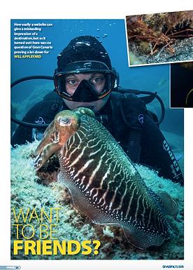 Gran Canaria feature fo DIVER magazine