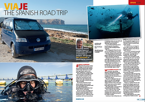 Spanish van trip, a feature for DIVER magazine