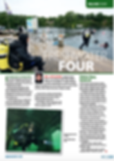 UK inland dive site feature for DIVER magazine
