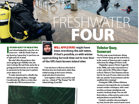 Fresh water four : A feature for DIVER magazine