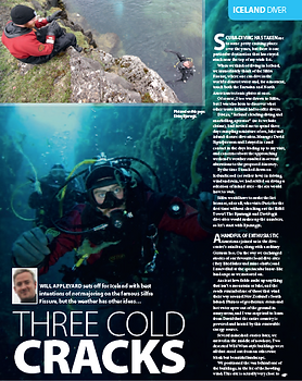 Iceland feature for DIVER magazine