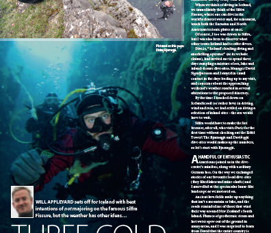 Iceland : A feature for DIVER magazine